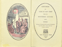 Histories or tales of past times told by Mother Goose with morals